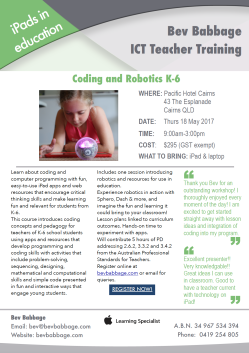 Coding Cairns Flyer